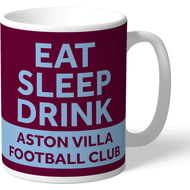 Personalised Aston Villa FC Eat Sleep Drink Mug