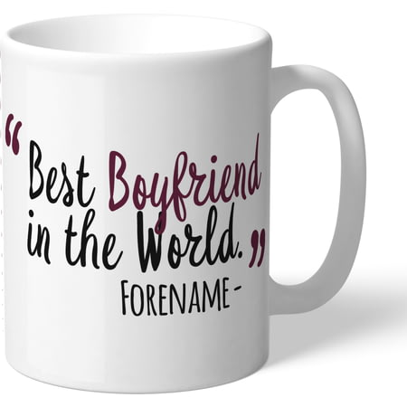 Personalised Burnley FC Best Boyfriend In The World Mug