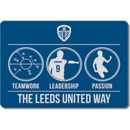 Personalised Leeds United FC Way Rubber Backed Large Floor Mat - 60x90cm