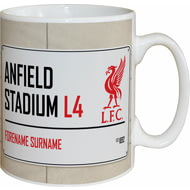 Personalised Liverpool FC Street Sign Mug