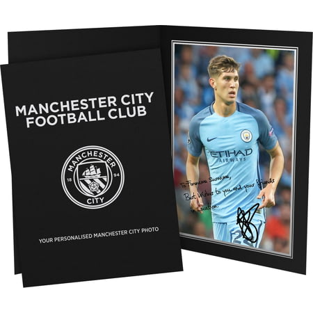 Personalised Manchester City FC Stones Autograph Photo Folder