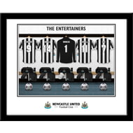 Personalised Newcastle United FC 'The Entertainers' Dressing Room Shirts Framed Print