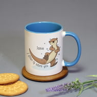 Personalised Otter-ly Adore You Ceramic Mug