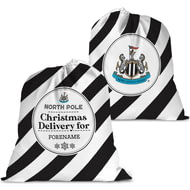 Personalised Newcastle United FC Christmas Delivery Santa Sack