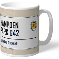 Personalised Scotland Football Assocation Hampden Park Street Sign Mug