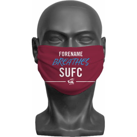 Personalised Scunthorpe United FC Breathes Adult Face Mask