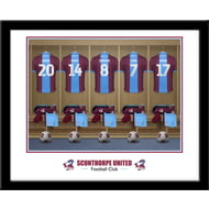 Personalised Scunthorpe United FC Dressing Room Shirts Framed Print
