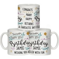 Personalised Birthday Slogan Ceramic Mug