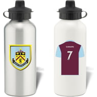 Personalised Burnley FC Shirt Aluminium Sports Water Bottle