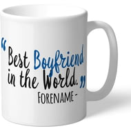 Personalised Cardiff City Best Boyfriend In The World Mug