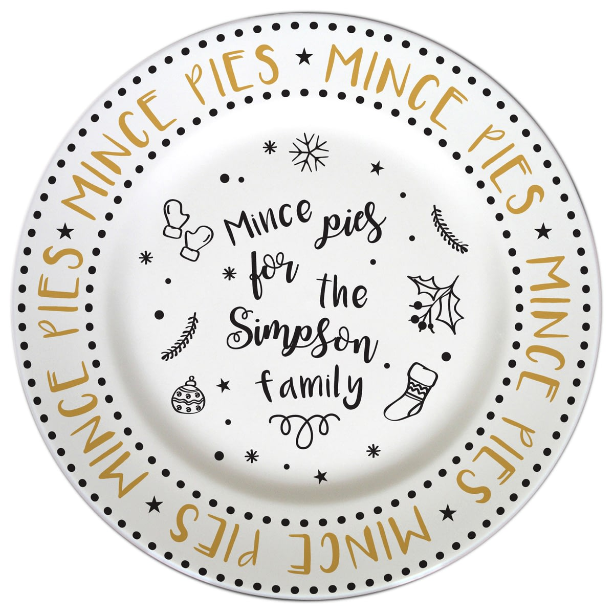 Personalised Mince Pie Plate  sc 1 st  Go Find A Gift & ?Buy your Personalised Mince Pie Plate from Go Find A Gift
