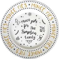 Personalised Mince Pie Ceramic Plate