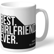 Personalised Swansea City Best Girlfriend Ever Mug