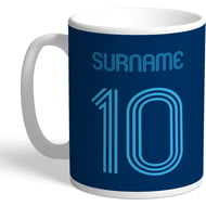 Personalised Wycombe Wanderers Retro Shirt Mug