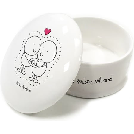 Personalised Chilli & Bubble's New Baby Trinket Box