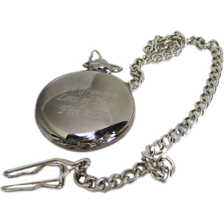 Personalised Chrome Fob Watch