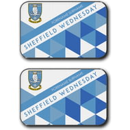 Personalised Sheffield Wednesday FC Patterned Rear Car Mats