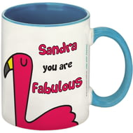 Personalised Fabulous Blue Inside Mug
