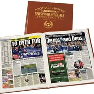 Personalised Leicester City Football Newspaper Book - Leatherette Cover