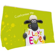 Personalised Shaun The Sheep Valentines Print Small Wash Bag