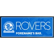 Personalised Blackburn Rovers Crest Rubber Bar Runner
