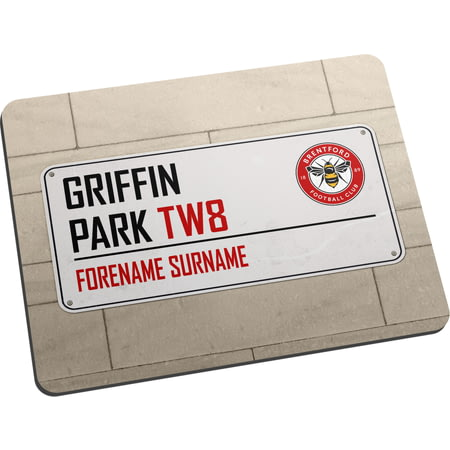 Personalised Brentford FC Street Sign Mouse Mat