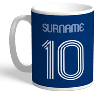 Personalised Millwall FC Retro Shirt Mug