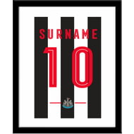 Personalised Newcastle United Retro Shirt Framed Print