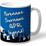 Personalised Queens Park Rangers FC Legend Mug