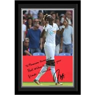 Personalised Swansea City AFC Abraham Autograph Photo Framed