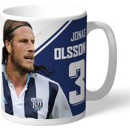 Personalised West Bromwich Albion FC Olsson Autograph Mug