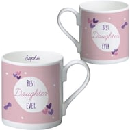 Personalised Best Ever Gingham Balmoral Ceramic Mug