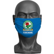 Personalised Blackburn Rovers FC Crest Adult Face Mask
