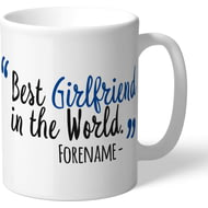 Personalised Chelsea FC Best Girlfriend In The World Mug
