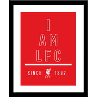 Personalised Liverpool FC I Am Framed Print