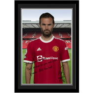 Personalised Manchester United FC Mata Autograph Photo Framed