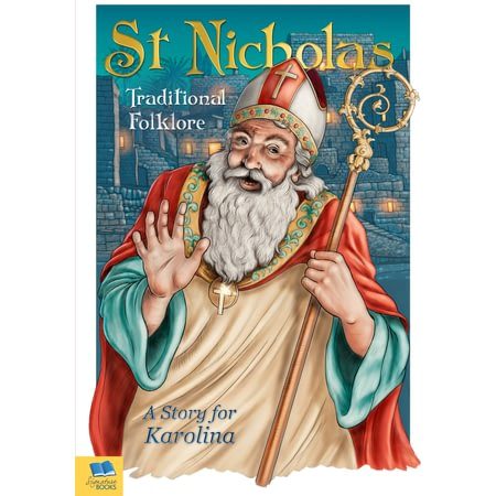 Personalised St Nicholas Santa Claus Traditional Folklore Christmas Book