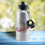 Personalised Pink Unicorn Aluminium Drinks Bottle