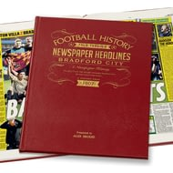 Personalised Bradford Football Newspaper Book - Leather Cover