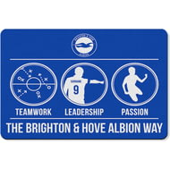 Personalised Brighton & Hove Albion FC Way Rubber Backed Large Floor Mat - 60x90cm
