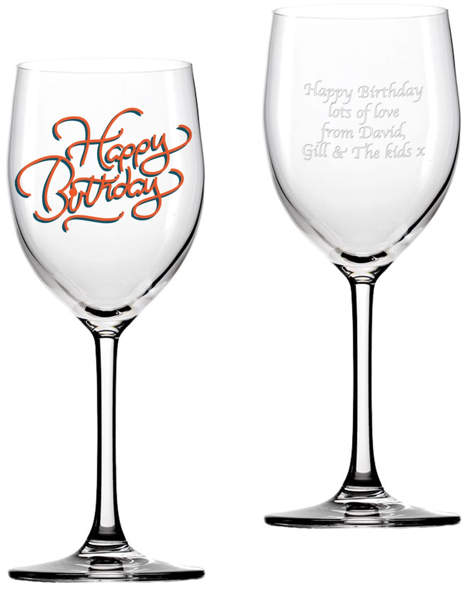Personalised Happy Birthday Wine Glass From Go Find A Gift