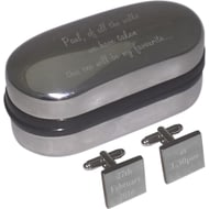 Personalised My Favourite Walk Cufflinks & Box
