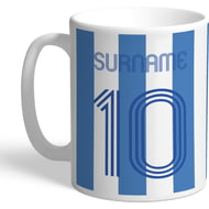 Personalised Sheffield Wednesday Retro Shirt Mug