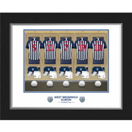 Personalised West Bromwich Albion FC Dressing Room Photo Folder