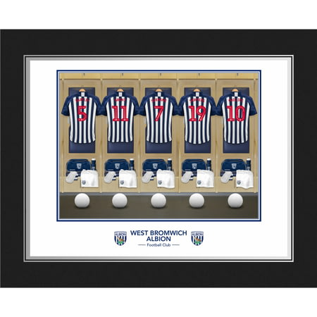 Personalised West Bromwich Albion FC Dressing Room Shirts Photo Folder