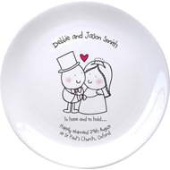 Personalised Chilli & Bubble's To Have & To Hold Ceramic Plate