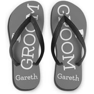 Personalised Groom Medium Flip Flops