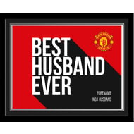 Personalised Manchester United Best Husband Ever 10x8 Photo Framed