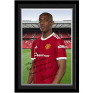 Personalised Manchester United FC Martial Autograph Photo Framed