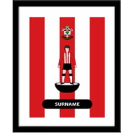 Personalised Southampton Player Figure Framed Print